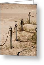 Rope And Wooden Fence Greeting Card