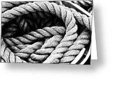 Rope Black And White Greeting Card