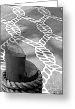 Rope Designs Steveston British Columbia Greeting Card