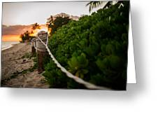 Rope Fence Greeting Card by Jason Bartimus