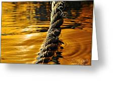 Rope On Liquid Gold Greeting Card