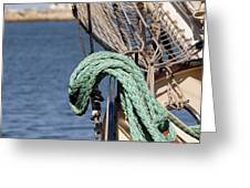 Ropes And Rigging Greeting Card