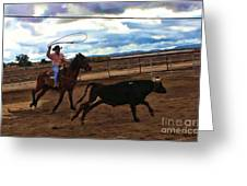 Roping Greeting Card