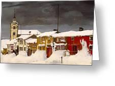 Roros In Winter - Norway Greeting Card