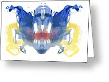 Rorschach Type Inkblot Greeting Card