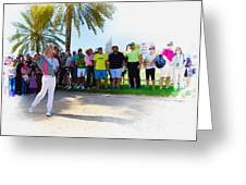 Rory Mcilroy - The Third Round Of The Omega Dubai Desert Classic Greeting Card