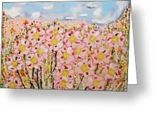 Rosa Ruby Flower Garden Greeting Card