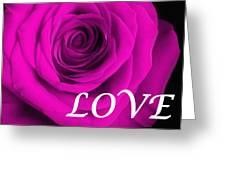 Rose 16 Love Greeting Card