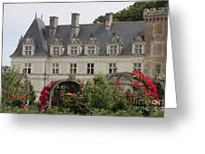 Rose And Cabbage Garden Chateau Villandry Greeting Card