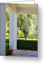 Rose And Front Porch Greeting Card