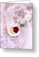 Rose And Mirror Greeting Card