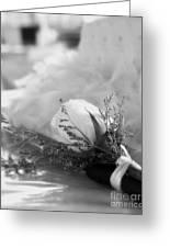Rose And Wedding Cake Greeting Card