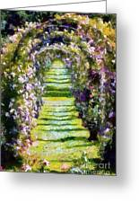 Rose Arch In Summer Sunshine Greeting Card
