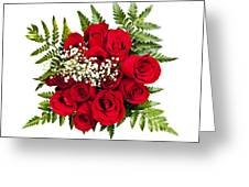 Rose Bouquet From Above Greeting Card