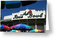 Rose Bowl Greeting Card
