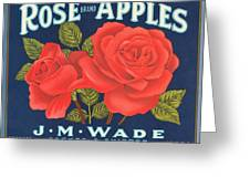 Rose Brad Apples Crate Label Greeting Card
