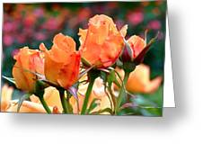Rose Bunch Greeting Card by Rona Black