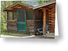 Rose Cabin At The Holzwarth Historic Site Greeting Card