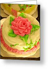 Rose Cakes Greeting Card