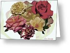 Rose Collage Greeting Card