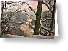 Rose Colored Morning Greeting Card