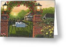 Rose Cottage - Dinner For Two Greeting Card
