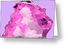 Rose Crystal Quartz Greeting Card