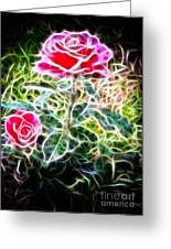 Rose Expressive Brushstrokes Greeting Card