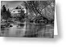 Rose Farm Black And White Greeting Card