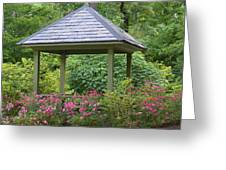 Rose Garden Gazebo Greeting Card