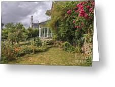 Rose Garden Near Cottage In England Greeting Card