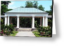 Rose Garden Pergola In Delaware Park Buffalo Ny Oil Painting Effect Greeting Card