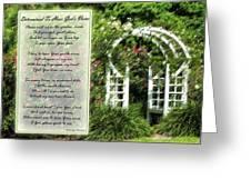 Rose Garden Prayer Greeting Card