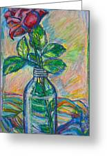 Rose In A Bottle Greeting Card