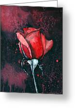 Rose In Flames Greeting Card