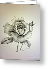 Rose In Monotone Greeting Card