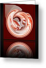 Rose In Orb Greeting Card