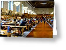 Rose Main Reading Room New York Public Library Greeting Card