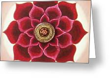 Rose Mandala Greeting Card