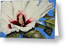Rose Of Sharon Greeting Card by Karen Beasley