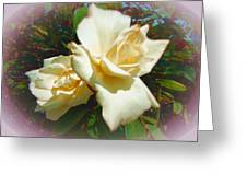 Rose Oval Greeting Card