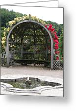 Rose Pavilion At Chateau Villandry Greeting Card