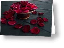 Rose Petals And Pottery Greeting Card