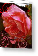 Rose Rose And Rose Greeting Card
