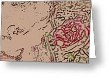 Rose Smell Greeting Card
