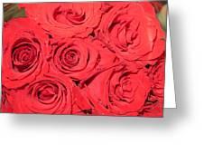 Rose Swirls Greeting Card