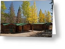 Rose Twin 1 And Twin 2 Cabins At The Holzwarth Historic Site Greeting Card
