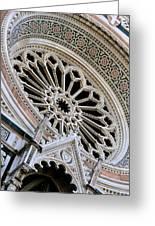 Rose Window Duomo Florence Greeting Card