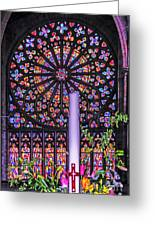 Rose Window Of St Vincent Greeting Card