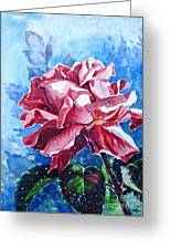 Rose Greeting Card by Zaira Dzhaubaeva